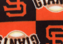 Giants Checkered Fleece black and Orange