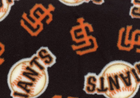 Giants Fleece Fabric Black