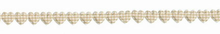 Gingham Hearts Trim Tan
