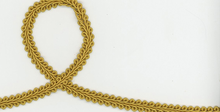 Gold Braided Gimp Trim 3/8""