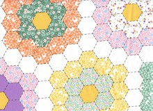 Grandma's Garden Hexagon Cheater Cotton