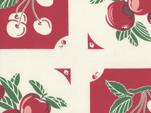 Granny's Fruit Pie Toweling Fabric Red