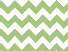 Green Chevron Stripe Cotton Fabric