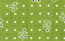 Green Dainty Flower Dot