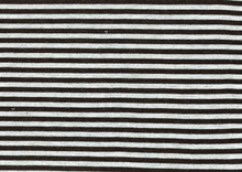 Grey and Black Stripe Knit Fabric
