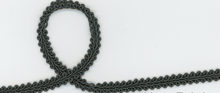 Grey Braided Gimp Trim 3/8""