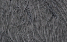 Grey Faux Shag Fur