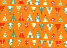 Happy Camper Tee Pee Flannel Orange
