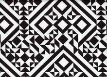 Harlequin Geometric Cotton Spandex Black