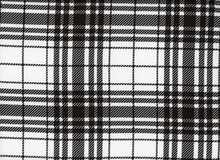 Harlequin Plaid Cotton Spandex Black and White