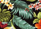 Hawaiian Hibiscus Floral Black