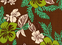 Hawaiian Rayon Challis Brown