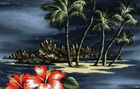 Hawaiian Scene Grey