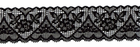 Hearts and Flowers Stretch Lace Black