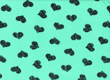 "Hearts Knit Turquoise<br><FONT COLOR=""fc7db0"">Employee Favorite!</FONT>"