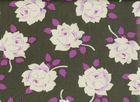 Heather Bailey Vintage Rose Cotton Charcoal