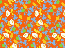Heather Ross Briar Rose Calico Cotton Orange