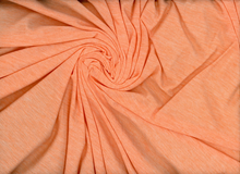 Heathered Rayon Knit Fabric Peach
