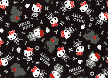 Hello Kitty Halloween Cotton Canvas Black