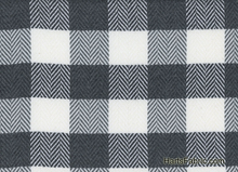 Herringbone Plaid Woolen Fabric Grey Ivory