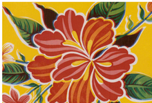 Hibiscus Oilcloth Yellow