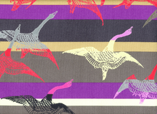 Hokusai Bird of Passage Cotton Canvas Purple