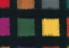 Home D�cor Black Double Ikat Fabric