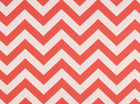 Home Decor Chevron Fabric Coral