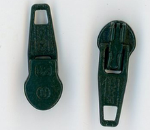 Hunter Green Metal Zipper Pull #3