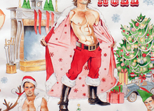 Hurry Down The Chimney Christmas Hunks White
