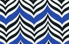 Indoor/Outdoor Ripple Effect Chevron Print Baltic Blue