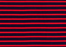 Interlock Stripes Red and Navy