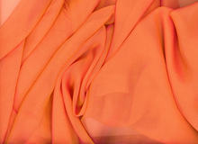 Irridescent Silk Chiffon Orange
