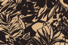 Japanese Import Cotton Barkcloth Fabric Birds and Leaves Black Brown