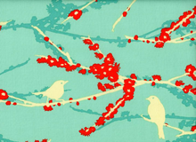 Joel Dewberry Aviary Sparrows Vintage Aqua