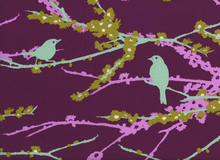 Joel Dewberry Aviary Sparrows Vintage Lilac