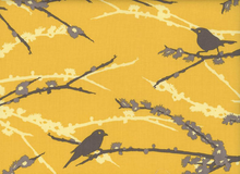 Joel Dewberry Aviary Sparrows Vintage Yellow