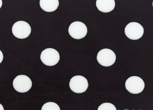 Jumbo Dots Printed Minky Fabric Black and White