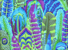Kaffe Fassett Feathers Cotton Green