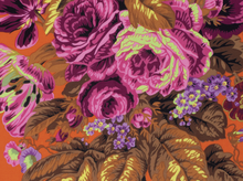 Kaffe Fassett Spring 2015 Floral Delight Cotton Orange