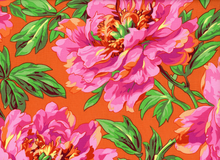 Kaffe Fassett Tree Peony Cotton Orange