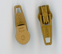 Khaki Metal Zipper Pull #3