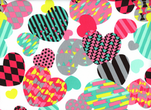 Kokka Canvas Hearts Multi