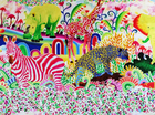 "Kokka Fujiyoshi Bros Cotton Canvas Bright <br><FONT COLOR=""fc7db0"">Employee Favorite!</FONT>"