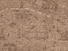 Lacefield Map of Paris Cotton Canvas Fabric Natural