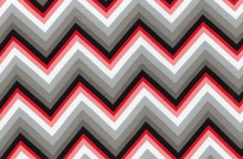 Laguna Chevron Stripe Jersey Knit Red