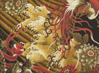 Lair of the Dragon Waves Cotton Gold
