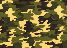 Laminated Cotton Camo Slicker Green