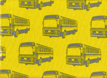 "Laminated Cotton Echino Buses Yellow  <br><FONT COLOR=""fc7db0"">Employee Favorite!</FONT>"