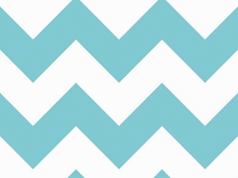 Large Chevron Cotton Fabric Aqua